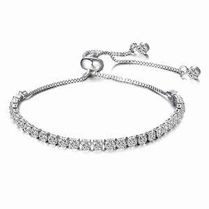 ♠️+Swarovski® Diamonds Tennis Bridal Bracelet